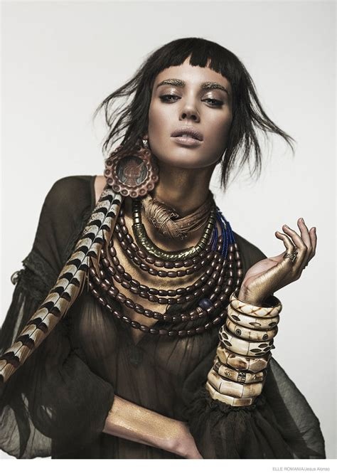 Tribal Inspired Clothes nuria nieva in tribal chic fashion for romania by