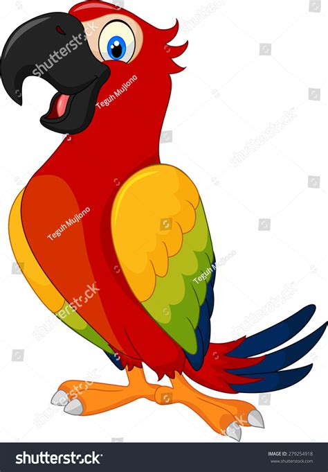 cartoon cockatiel cartoon cute parrot stock vector 279254918 shutterstock