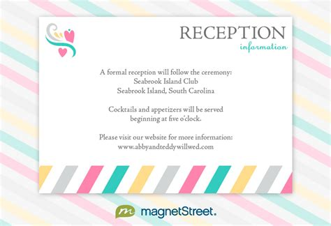 wedding guest information card template reception invitation wordingreception invitation wording