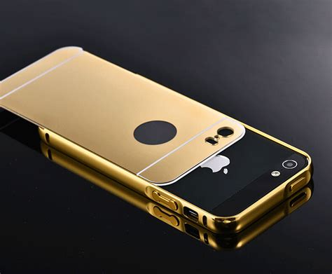 Iphone 5 5s 5g Se Luxury Soft Mirror Cover Ring 5s mirror aluminum for iphone 5 5g 5s apple fashion gold silver aluminum acrylic mobile