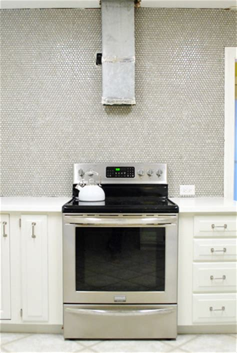 Decorative Tile Backsplash How To Install Penny Tile And Lots Of It Young House Love