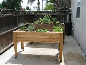 Portable Planter Boxes by Elevated Portable Planter Box Raised Garden Beds