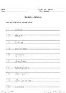 Primaryleap co uk spanish numbers 11 20 worksheet