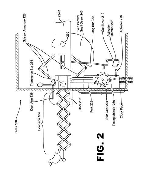 cuckoo clock parts diagram patent us7126882 cuckoo clock