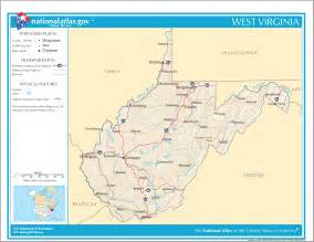 West Virginia On Map by West Virginia Facts National Parks Landmarks And