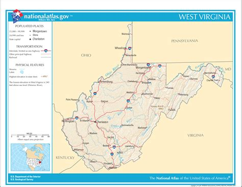 map of wv west virginia facts national parks landmarks and pictures geography almanac