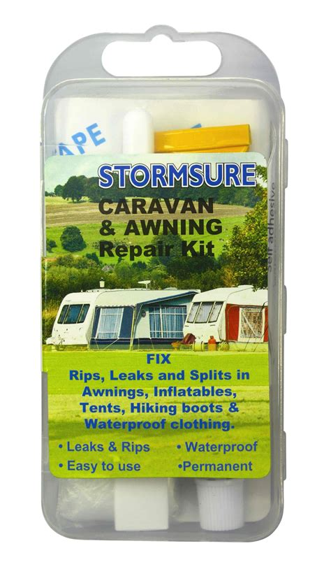 caravan awning repairs caravan rv tent tarp awning repair kit stormsure tuff tape glue ebay