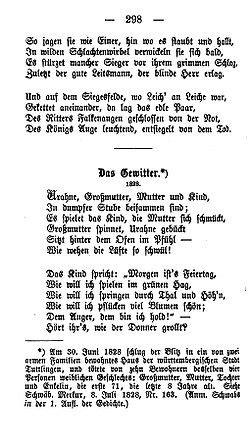 Heinz Erhardt Gedichte Herbst 5528 by Das Gewitter Schwab Wikisource
