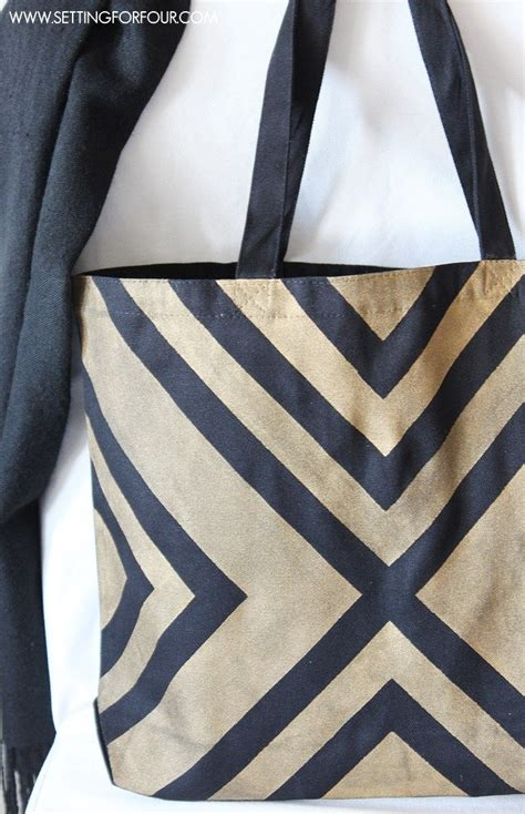 homemade tote bag pattern easy diy black and metallic gold tote bag with a stylish