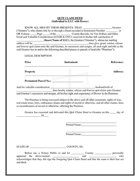 printable blank quit claim deed form best photos of sle quit claim form quit claim deed