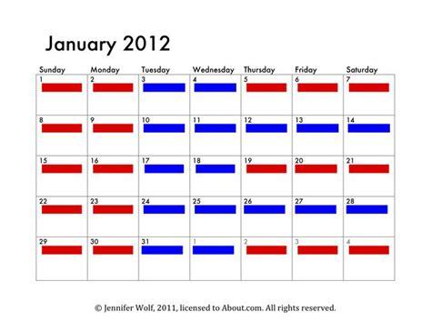 Parenting Plan Calendar