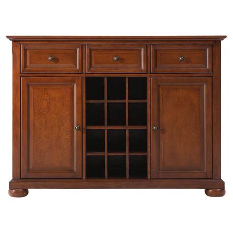 Alexandria Buffet Server Sideboard Cabinet Classic Cherry Buffet Cabinet