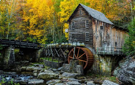 Grist House by Glade Creek Grist Mill Photograph By Caimano