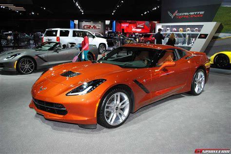 2015 corvette stingray orange car interior design