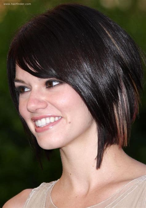 long neck short hairstyles hairstyles rachel melvin modern neck length bob hairstyle with a
