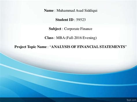 Corporate Banking Projects Mba by Corporate Finance