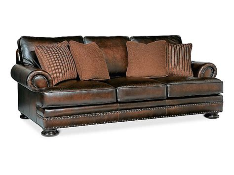 foster elite 98 quot leather sofa by bernhardt hom furniture