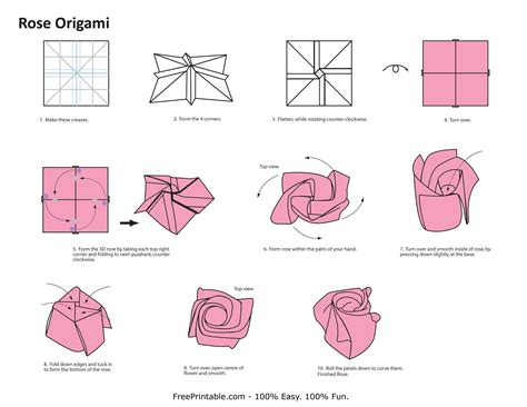 How To Make Paper Roses Easy Step By Step - easy origami folding how to make an
