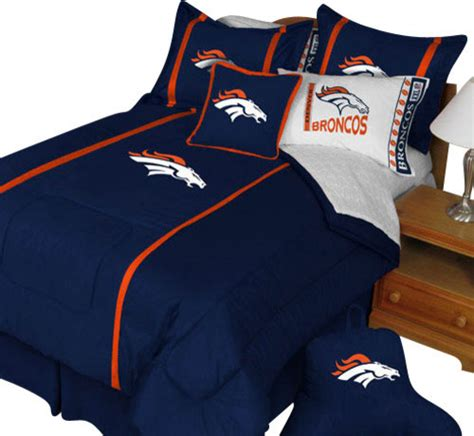 denver broncos bedroom nfl denver broncos twin comforter pillow sham mvp bed set