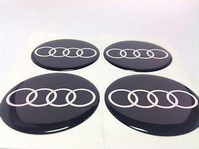 Audi Nabendeckel Aufkleber 55mm by Seat 4 X 55mm Silikon Emblem Felgen Aufkleber Logo