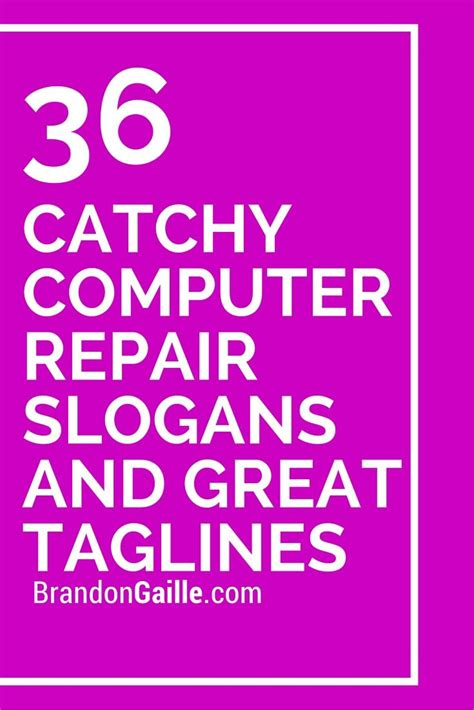 catchy computer repair slogans  great taglines catchy slogans computer repair