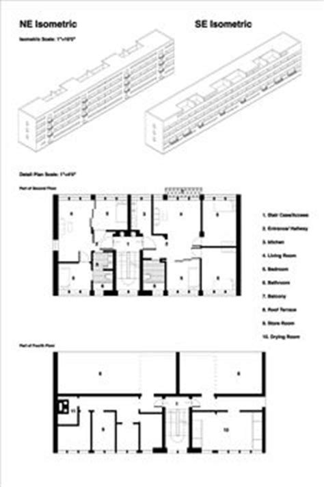 Mies Der Rohe Floor Plan by Weissenhofsiedlung Apartments 1927 Ludwig Mies Der