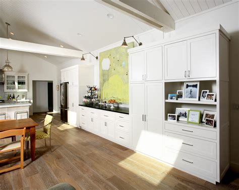 swiss coffee for ceilings sloped floors kitchen traditional with wood flooring wall