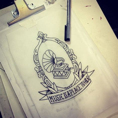 places to hide a tattoo oldschool oldchooltattoo sketch camafeu vitrola