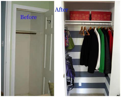 closet makeovers weekend tweaks coat closet makeover