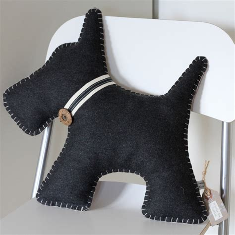 pattern for dog shaped cushion scottie dog cushion hand embroidered free uk p folksy