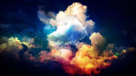 colorful clouds wallpaper colourful clouds by thejomi on deviantart