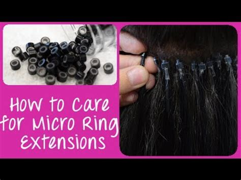 how to care for your hair extensions how to care for micro link micro ring cold fusion hair