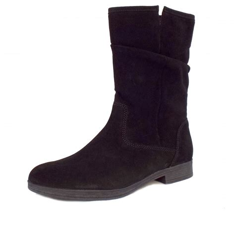 s boots gabor dolce s mid calf boots black suede