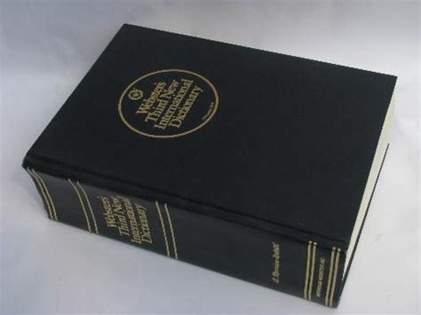 bid dictionary big websters unabridged dictionary 80s vintage blue