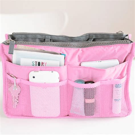 Korean Duals Bag Purse Organizer Bag In Bags korean inside outside insert handbag makeup cosmetic purse travel organizer bag ebay