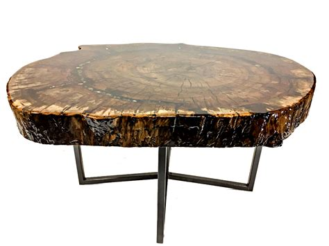 Repurposed Wood Dining Table With Bling