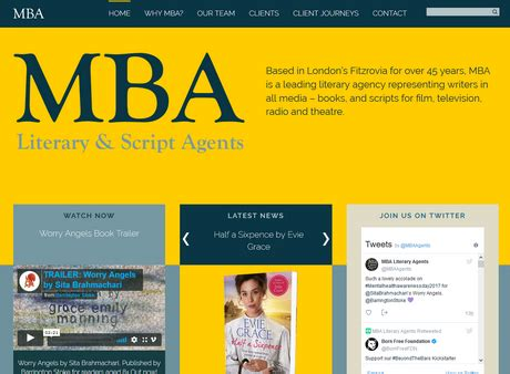 Mba Literary Agents by Mba Literary And Script Agents Bookswarm A Digital