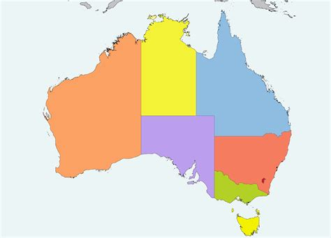 map of australia with states file australia location map recolored png