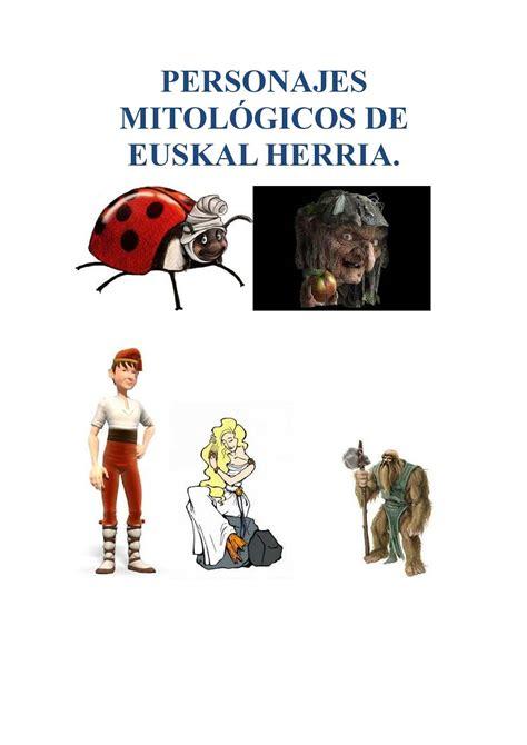 calameo la mitologia de euskal herria personajes