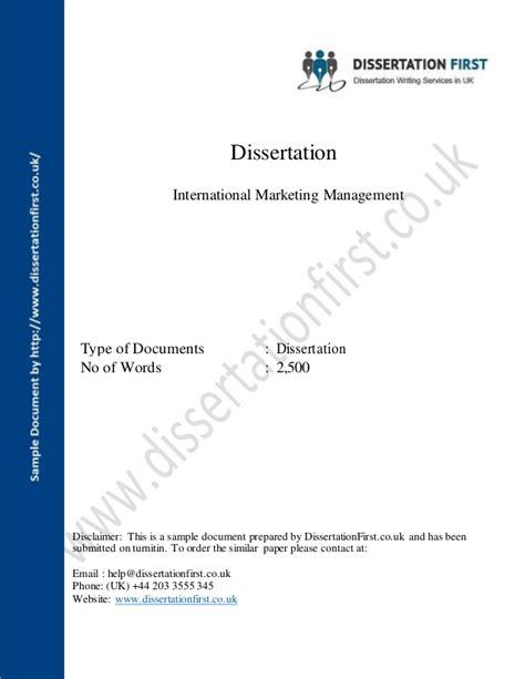 international marketing dissertation topics dissertation international marketing management sle