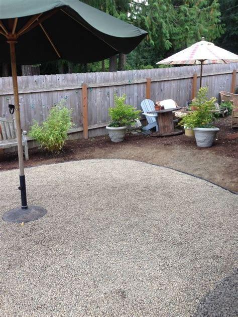 pea gravel patios progress on a fall backyard project the pea gravel patio