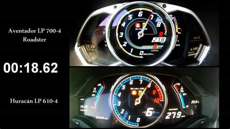 300 Km H Lamborghini by 0 300 Km H Lamborghini Battle Aventador Vs Hurac 225 N Youtube