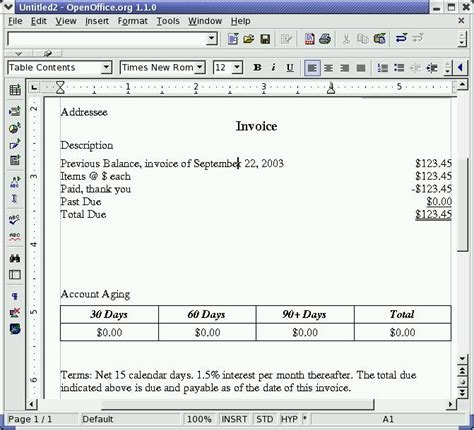 open office journal template openoffice org invoice template denryoku info