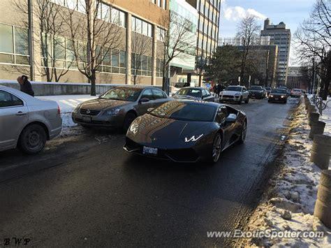 Lamborghini In Toronto Lamborghini Huracan Spotted In Toronto Canada On 02 06 2015
