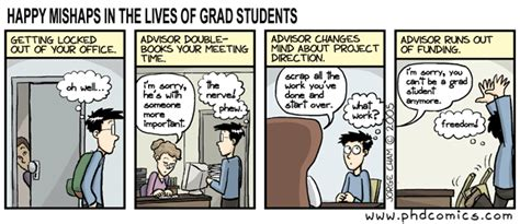phd comics advisor if you quit your phd organizing creativity