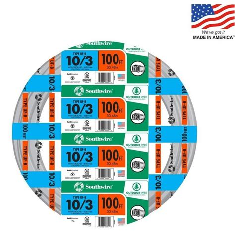 uf wire shop southwire 100 ft 10 3 uf wire by the roll at lowes