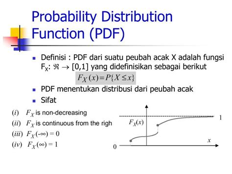 probability distribution function ppt random variable peubah acak powerpoint
