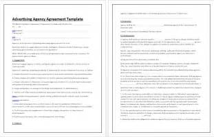 advertising agency agreement template tips guidelines