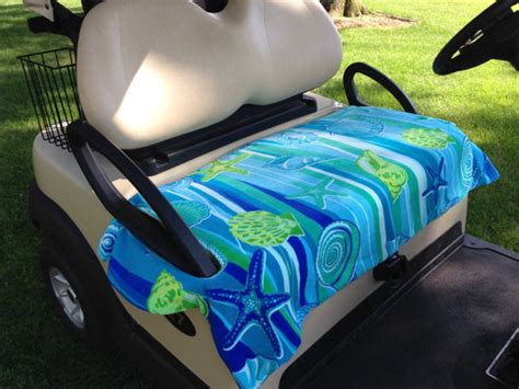 towel seat covers for golf carts sea shell terry cloth golf cart seat cover