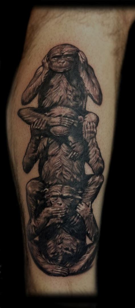 evil monkey tattoo designs the gallery for gt fear no evil see no evil speak no evil